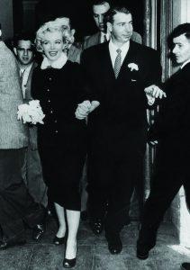 Marilyn Monroe e seu vestido de casamento civil