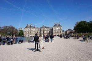 Jardim de Luxemburgo em Paris no verão
