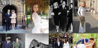 famosas com vestidos de casamento civil