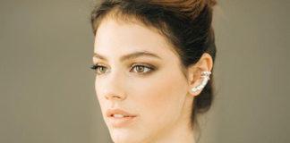 Ear cuff é o acessório escolhido pela noiva de Chay Suede