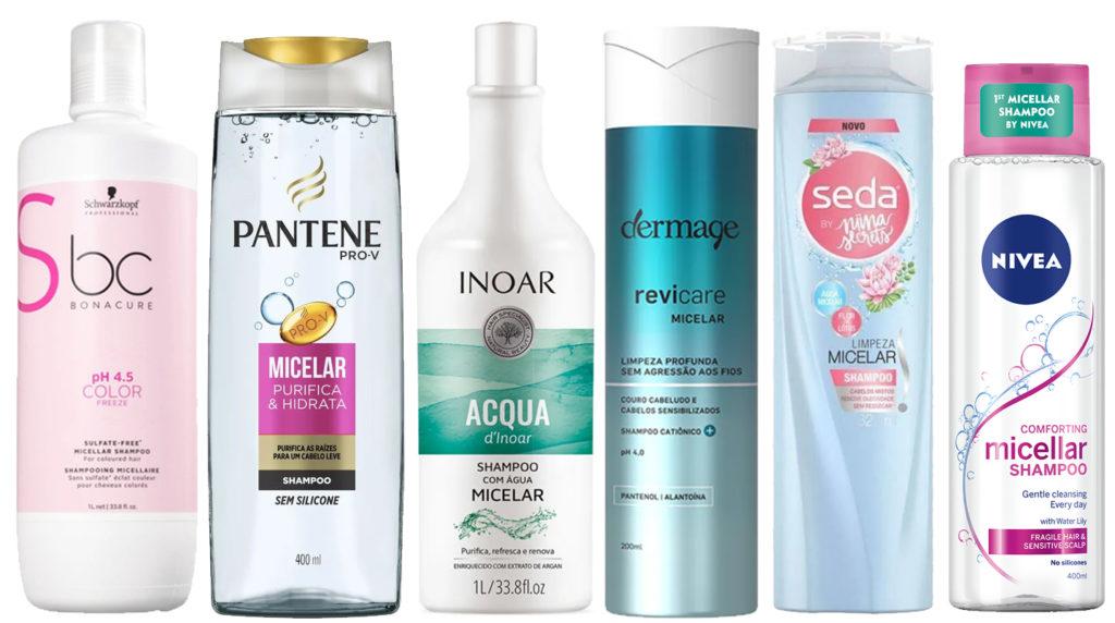 Shampoo com água micelar