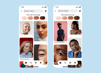 Pinterest lança gamas de tons
